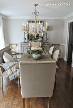 Some Subtle Fall Touches in our Dining Room  by Dear Lillie