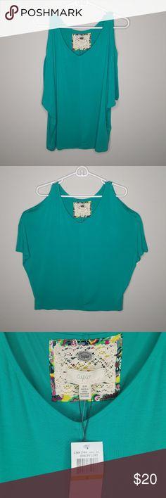 ac217f2609010 Spotted while shopping on Poshmark  Cupio Cold Shoulder Blouse NWT!   poshmark  fashion