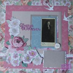 12x12 scrapbook layout using Crafter's Companion Sara Signature Floral Delight Collection. Designed by Jen Fisher #crafterscompanion #scrapbooking #cardmaking