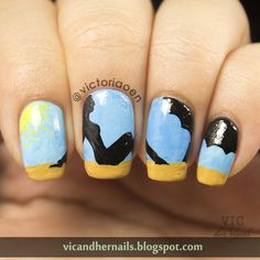 Vic and Her Nails: The Digital Dozen Does Summer - Day 2: Sunbathing