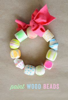 love these painted beads!