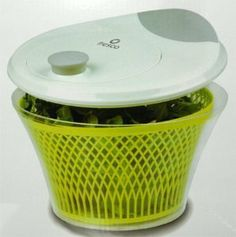 """Fresco Salad Spinner - Tulip by Fresco. $30.00. Dimensions: 11""""Dia × 7""""H. This salad spinner features an ergonomic, non-slip spinning knob for easy operation. The spinne.... Sold individually. This salad spinner features an ergonomic, non-slip spinning knob for easy operation. The spinner rotates both clockwise and counterclockwise for right or left hand use. A non-slip base ensures stability. The spinning basket has a meshed design with generously-sized openings for ..."""