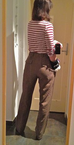 Of Dreams and Seams: How-To: Turn Mens suit pants into Womens slacks