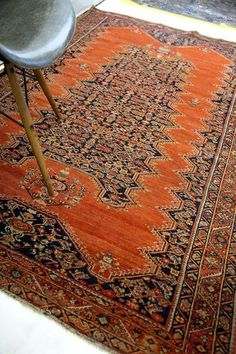 Antique Tomato Red Malayer Rug