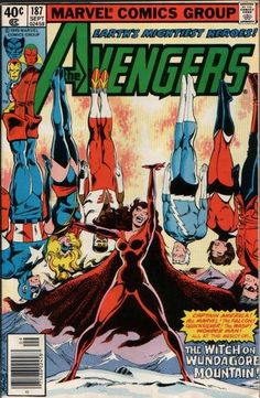 Wanda's gone dark! Her quest to find her real roots has taken a shady turn. (FYI, she and Quicksilver are the children of mutant menace Magneto, unless some writer retconned that yesterday.)