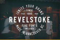 Revelstoke - 5 Font Family by Greg Nicholls on @creativemarket
