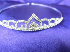Bridal Rhinestone Crystal Prom Sweet Sixteen Tiara Crown Silver