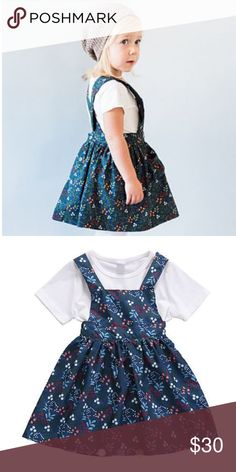 ⭐️ONLY ONE LEFT⭐️ Floral Overalls Dress Comes with one white top and one floral overalls dress. Dresses