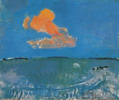 Piet Mondrian, The Red Cloud, 1907 on ArtStack #piet-mondrian #art