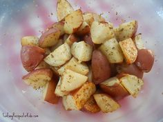 Red Roasted Potatoes + recipe  #recipes #potatoes
