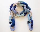 Clouds Chain Scarf - inspired by crisp, clear winter skies! £34 by StripyKite on Etsy! #HandmadeGifts #Winter
