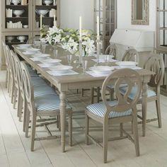 Dining room table (Oka), painted alder wood