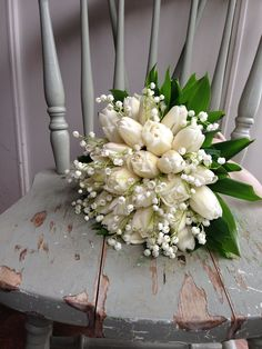 For some brides, selecting flowers for the marriage bouquet is a fast course of. A query of Funds Bouquet A … Tulip Bouquet Wedding, White Tulip Bouquet, White Wedding Bouquets, White Tulips, Bride Bouquets, Bridal Flowers, Boquet, Flower Bouquets, Lily Of The Valley Bouquet