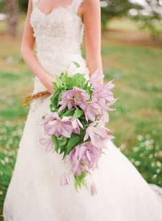 Purple Clematis Bouquet By Southern Blooms | photography by http://www.erickelleyphotography.com/