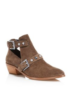 Rebecca Minkoff Abigail Suede Studded Booties