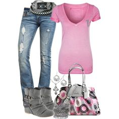 Love the outfit, all but jeans. Live love purse!!!