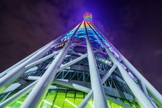 """The Australian travel photographer Peter Stewart, who focuses on capturing bustling cityscapes and landscapes, captured his series """"Stacked in Hong Kong"""" showin Canton Tower, Low Angle Shot, Angle Shooting, Visit China, Pearl River, Live In The Now, Guangzhou, Travel Photographer, Looking Up"""