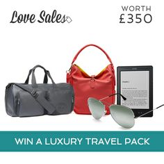 Competition Time! WIN a #LoveSales Luxury Travel pack worth £350! How? Simply sign into to LoveSales before the 14th of May and 'Like' and comment below! Check out our blog for more info! po.st/R2X2t9