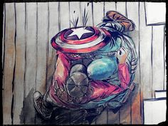 Fanart:Bucky's Apart: The Embrace | Captain America Civil War | Cap and Bucky | (source: UNBEFREAKINLIVABLE)