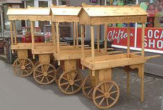 A fleet barrows retail stall market display wedding candy carts for sale or rent