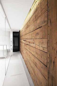 Rustiek houten muur