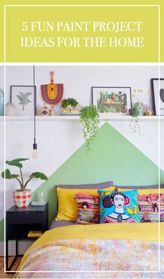 5 fun paint project ideas to help makeover your home. By interior stylist and DIY blogger, That's so Gemma.