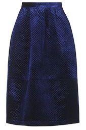 Embossed Velvet Skirt