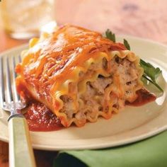 Favorite Lasagna Roll Ups I used ground beef instead of the turkey sausage and increased the amount of spaghetti sauce. I liked these with the cream cheese and cheddar, but I LOVED them when I replaced these ingredients with cottage cheese and mozzarella. .