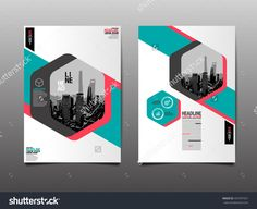 Brochure design template vector. Flyers annual report business ...