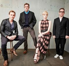 Tom Hiddleston, Hugh Laurie,  Elizabeth Debicki and Tom Hollander of AMC's The Night Manager pose in the Getty Images Portrait Studio at the 2016 Winter Television Critics Association press tour at the Langham Hotel on Jan 8, 2016. Full resolution: http://ww3.sinaimg.cn/large/6e14d388gw1ezwrhmbsj9j21kw13dnbx.jpg Source: Torrilla, Weibo