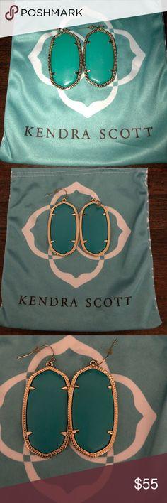 Kendra Scott Danielle Earrings - Teal Kendra Scott Danielle Earrings - Teal. Great condition. Kendra Scott Jewelry Earrings