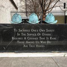 #firefighters #memorial to the 3 #lost #fighting #meridianbank #fire #onemeridianplaza Feb 1991 #centercity #philadelphia #philly #pennsylvania now @ritzcarltonphiladelphia #residences #condos #cityhall #view #vista #neverforget #supremesacrifice