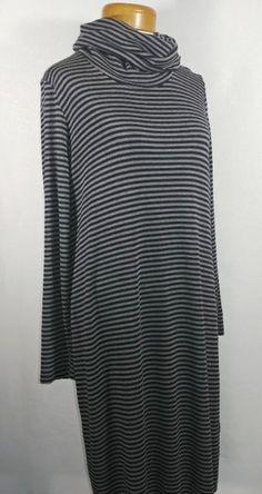 Blooming Est 2012 Midi Dress Gray Size L on Mercari Dress Long, High Neck Dress, Grey Midi Dress, Jersey Knit Dress, Stripe Pattern, Amsterdam, Black And Grey, Gray Color, Arms