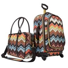 Targets designer Missoni line....love the chevron luggage