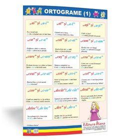 Ortograme (1) - planșă 50x70 - Proiecte Tematice Bullet Journal, Learning, Kids, Young Children, Boys, Studying, Teaching, Children, Boy Babies