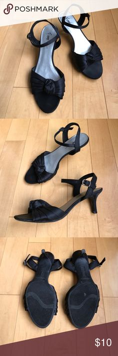 Woman's sandals Woman's low heel sandals with a middle knot. Only used once. Great condition. Fioni Night  Shoes Heels