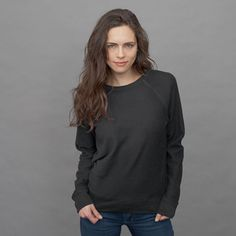 black sweatshirt by Everlane (french terry)