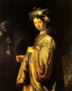 Rembrandt, Flora #baroque #art #painting