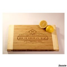 Personalized Two-Tone Cutting Board - Rodriguez