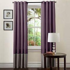 Lush Decor Prima Window Curtains - One Pair Gray/Purple - C00977Q12