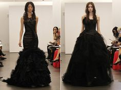 I'm open to a black wedding dress (as long as it's Vera Wang)  Google Image Result for http://stylefrizz.com/img/Vera-Wang-Black-wedding-gowns-2012.jpg