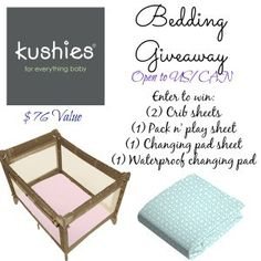 Kushies Bedding Giveaway 4/12 ~ Tales From A Southern Mom