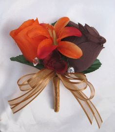 Brown Wedding Ideas | Champagne, Chocolate Brown and Burnt Orange ...