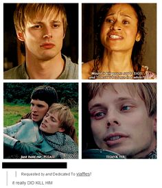 He actually said thank you before this, when Merlin gave him advice on whether or not to marry Mithian