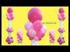 Ballondekoration, balloon Wedding decoration, Ballonsäule, balloon column, Hochzeitsdekoration