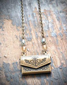 little love letter necklace made by @Valerie Brinker. love.