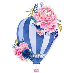 Hot air balloon flowers, Small Fresh, Literature And Art, Watercolor PNG Image and Clipart Rose Tattoos, Flower Tattoos, Small Tattoos, Art Watercolor, Watercolor Flowers, Art Floral, Balloon Clipart, Balloon Flowers, Flower Art