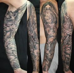religious tattoo by Mirek vel Stotker, religioso tatuaje
