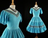 Turquoise Square Dancing Dress from Jordan's Closet $74.99