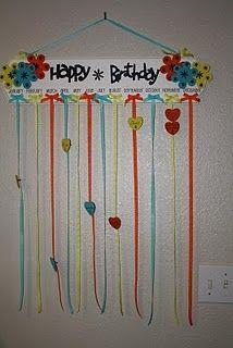 birthday board idea.